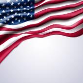 american flag realistic vector