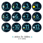 Fotografie Stickers for children on the theme of space