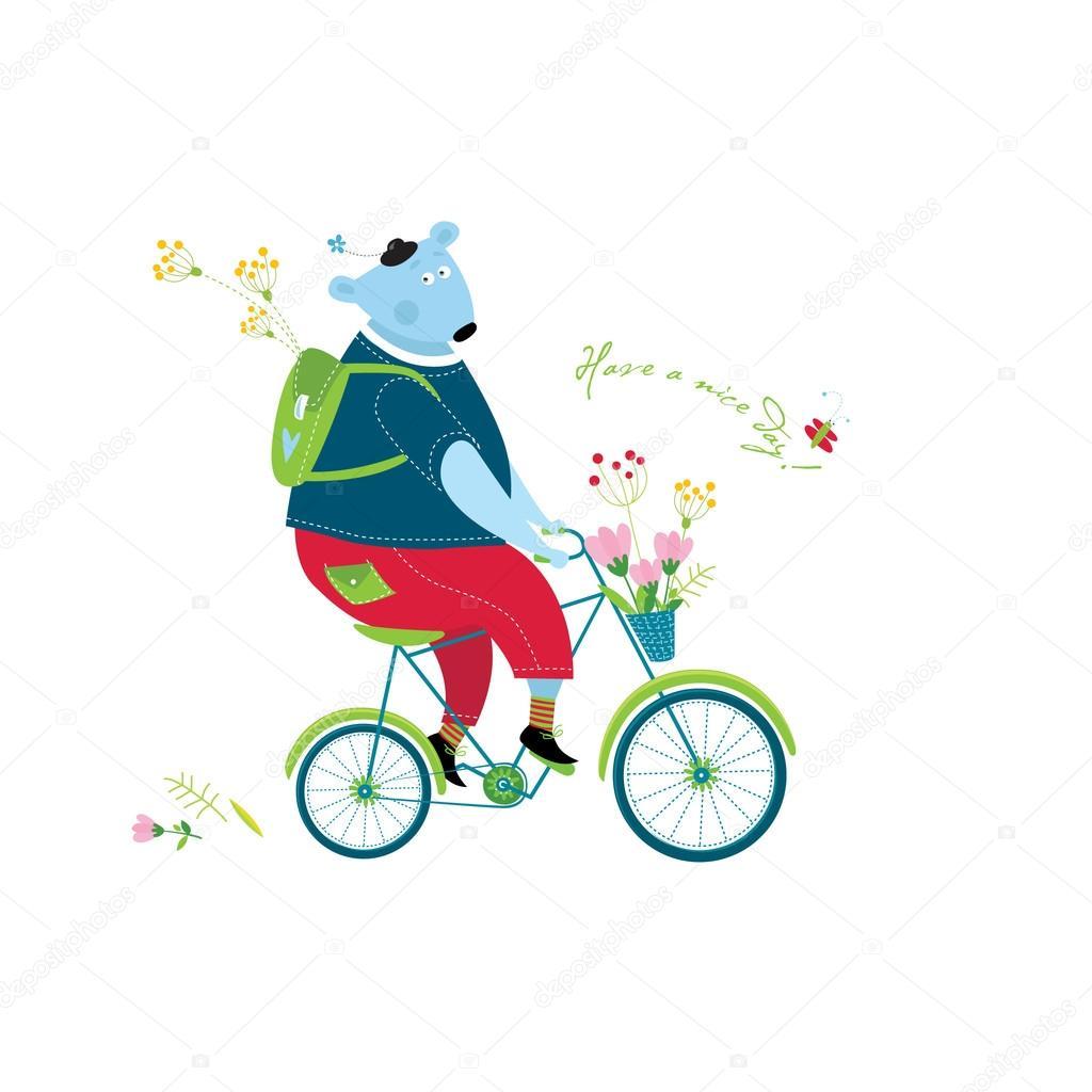 большое внимание медведь на велосипеде картинка любит работать