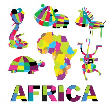 set on African themes