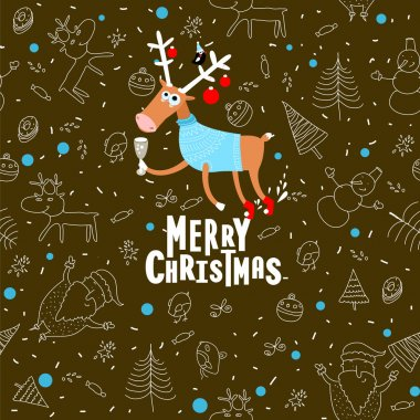 Christmas background with pattern
