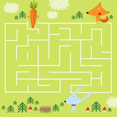 game for children with a labyrinth.