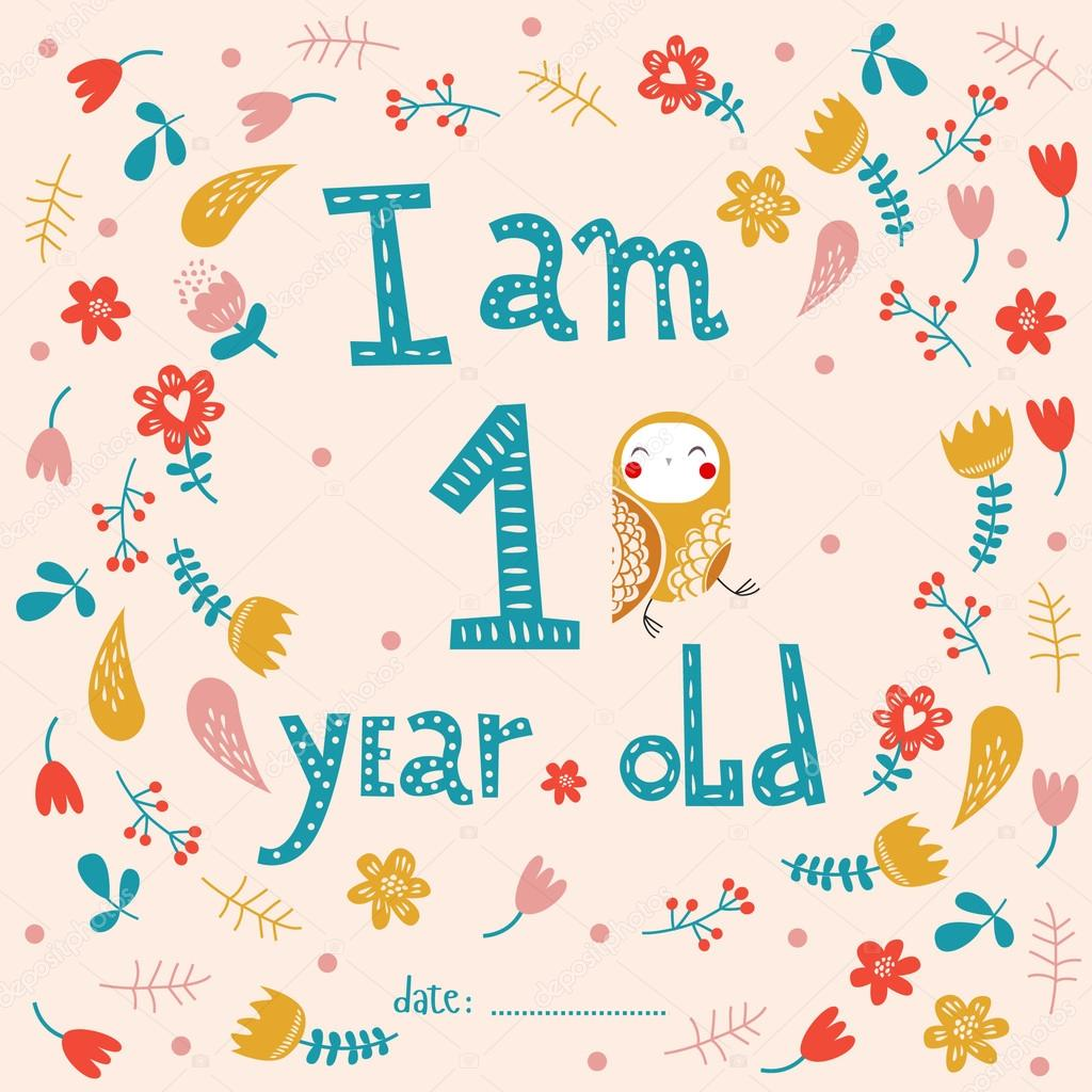 I Am One Year Old