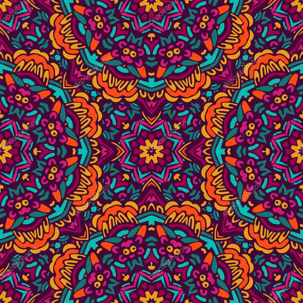 20bdcd3d3a5b Αφηρημένη Tribal vintage εθνικ απρόσκοπτη μοτίβο διακοσμητικά. πλακάκια  doodle floral σχέδιο — Διάνυσμα με ...