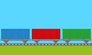 Train transport background vector