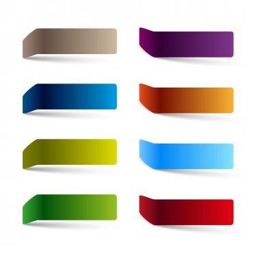 Vector color empty tags