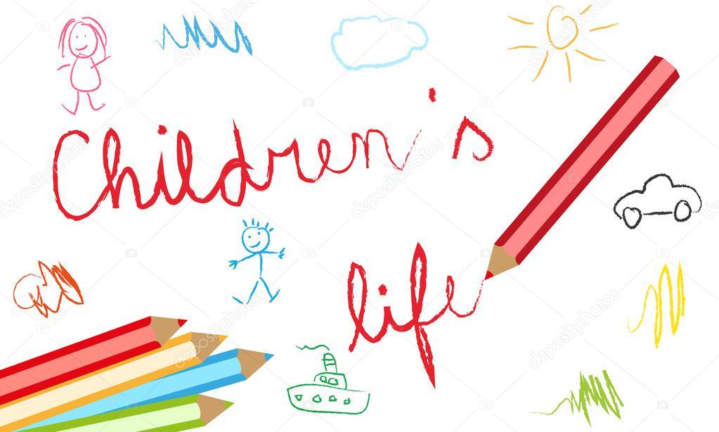 Fondo Utiles Escolares Vector: Fondos Escolares Infantiles