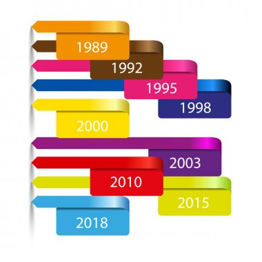 Vector modern time line info graphic background with pointers