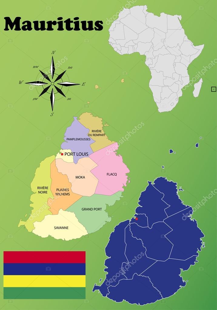 Mauritius Maps Stock Vector Delpieroo - Mauritius maps