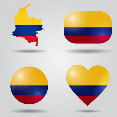 Colombia flag set