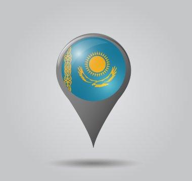 Map pointer - Kazakhstan