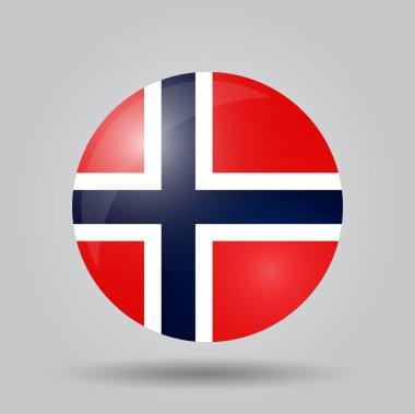 Circular flag - Norway