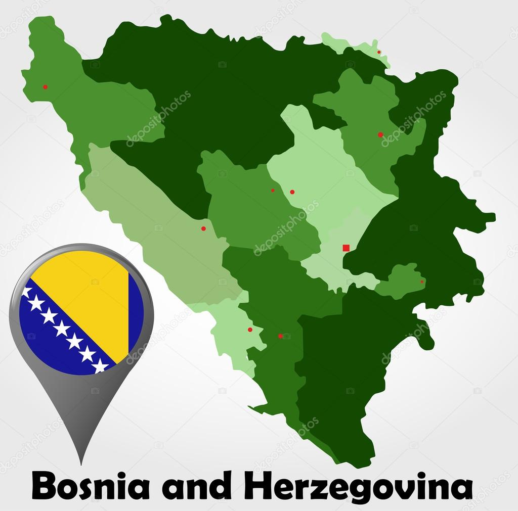 Bosnia and Herzegovina political map — Stock Vector © delpieroo ...