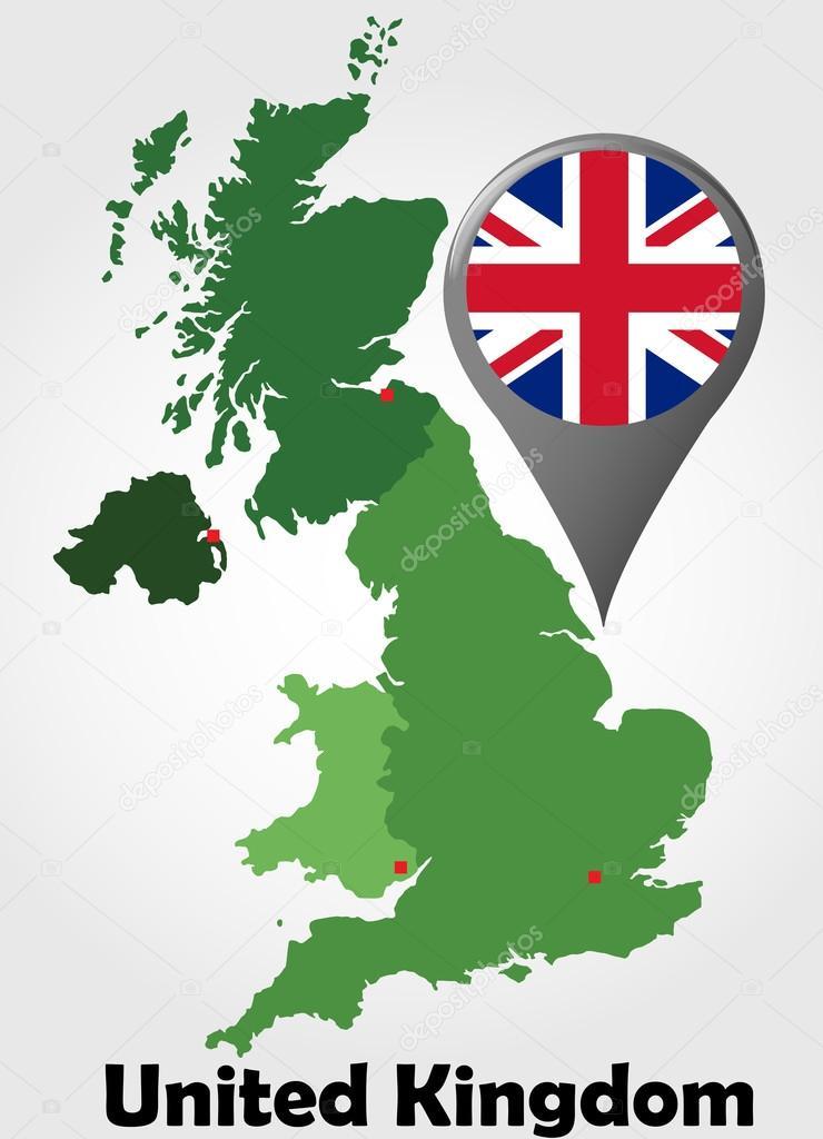 イギリスの政治地図 — ストックベクタ
