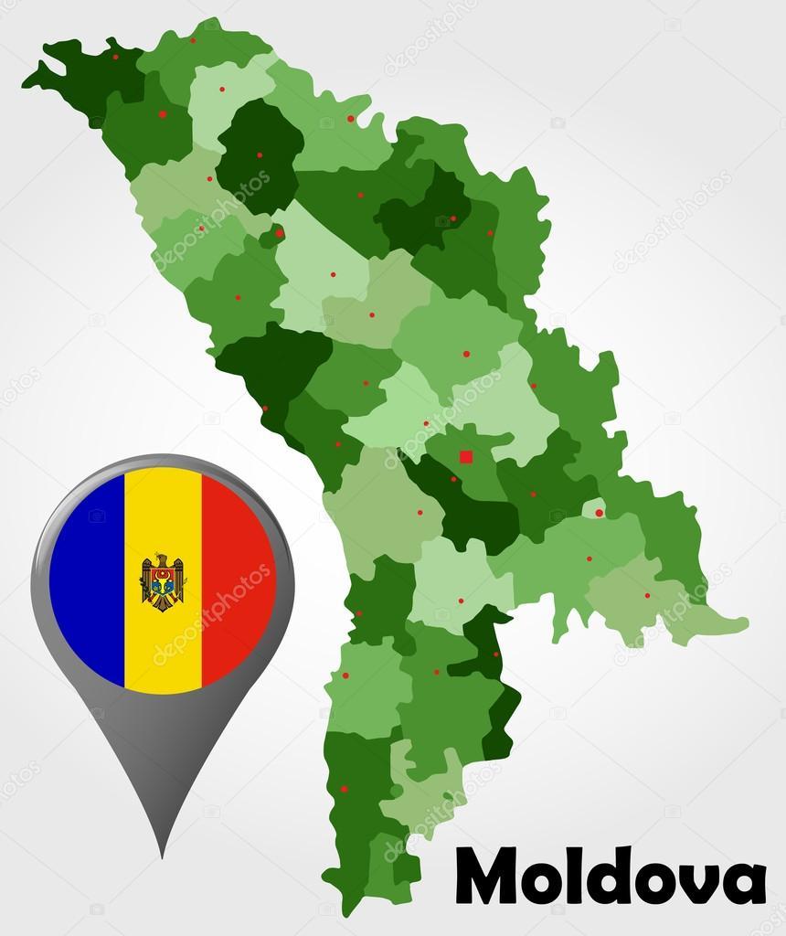 Moldova political map Stock Vector delpieroo 53818055