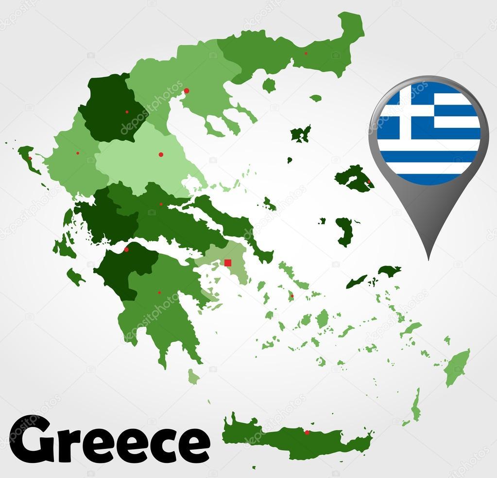 Greece Political Map Stock Vector C Delpieroo 53818085