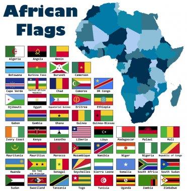 African flag set