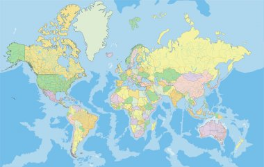 Political World map.