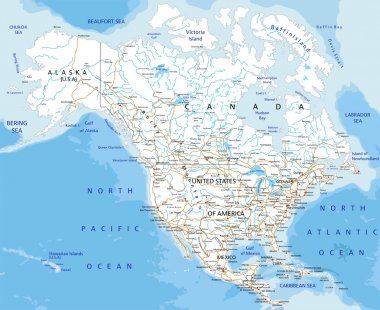 North America road map