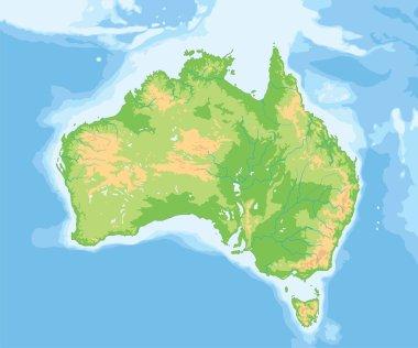 Australia physical map.
