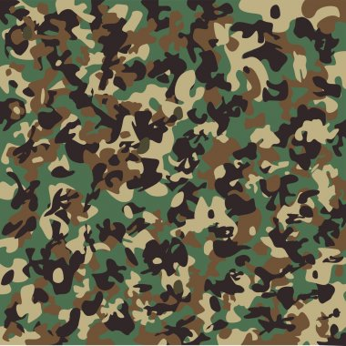 Vector camouflage pattern. US Woodland. stock vector