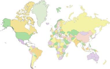 Political World map.