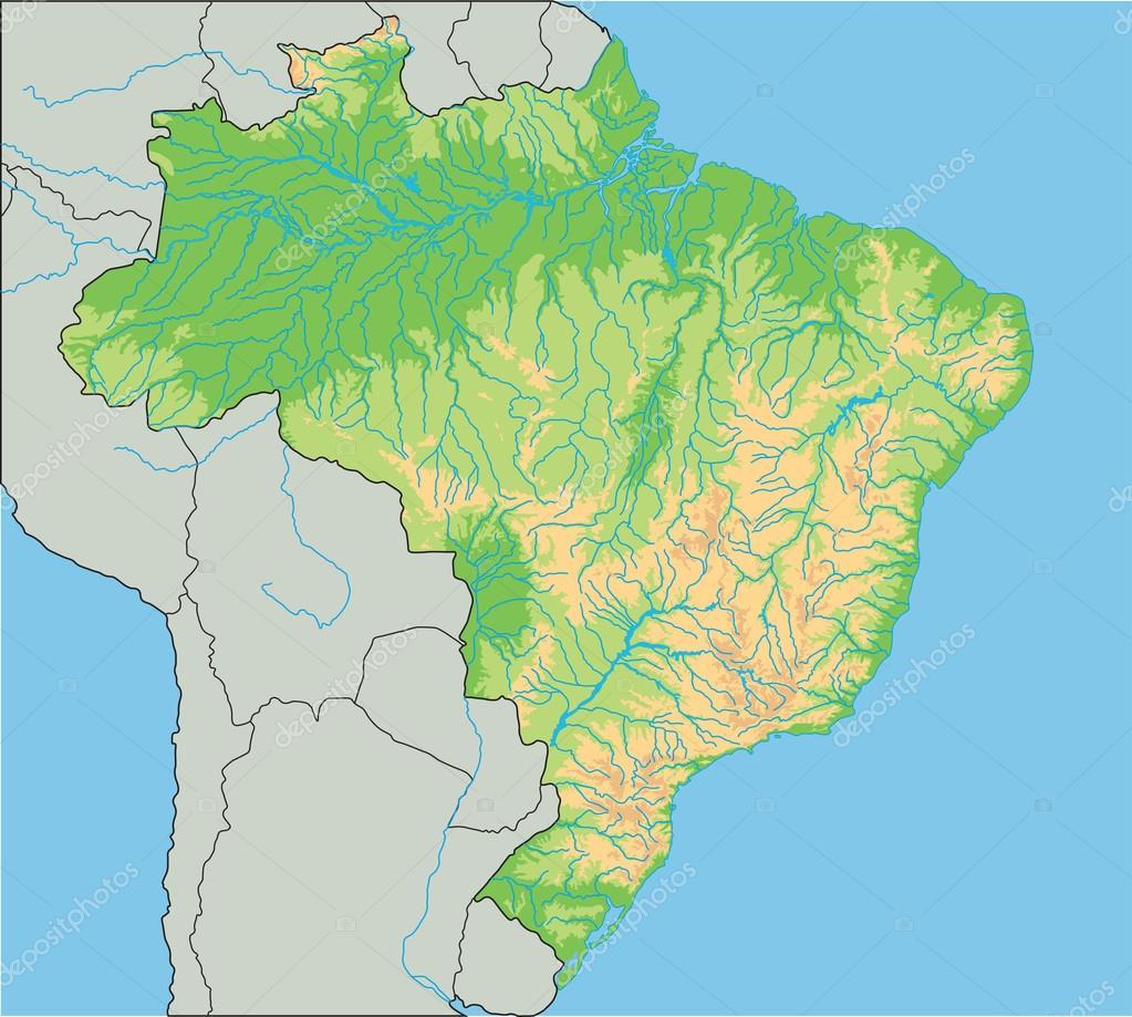 Brazil physical map Stock Vector delpieroo 76116479