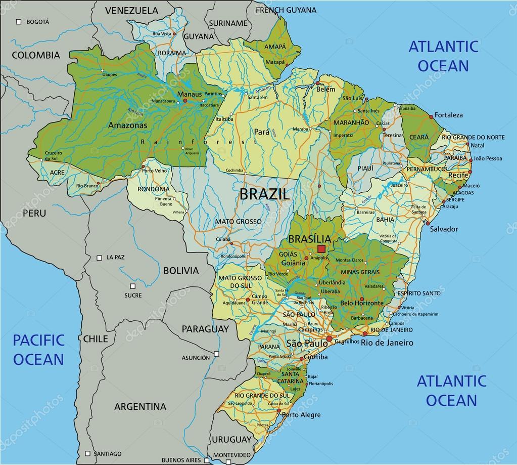 Brasil mapa poltico con capas separadas archivo imgenes brasil mapa poltico con capas separadas archivo imgenes vectoriales gumiabroncs Image collections