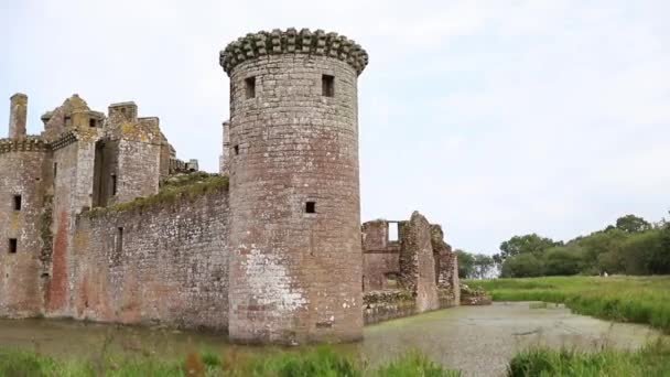 Ancient Ruins of a Medieval Scottish Fortress Surrounded By Nature