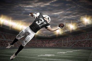 Football Player on a stadium