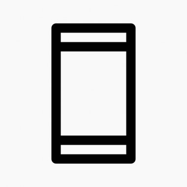 Mobile phone icon with portrait orientation as symbol for locked orientation isolated on white background icon
