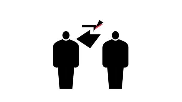 human communication color icon animation