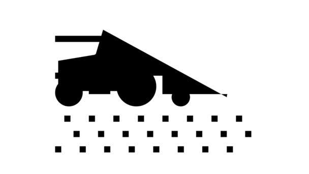 traktor se sklizní na ikonové animaci