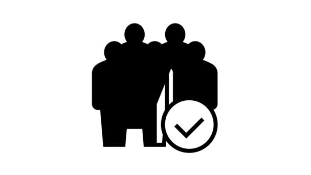 company employees line icon animation
