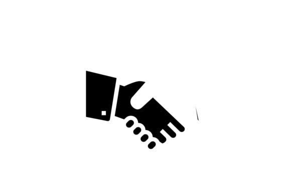 handshake padlock glyph icon animation
