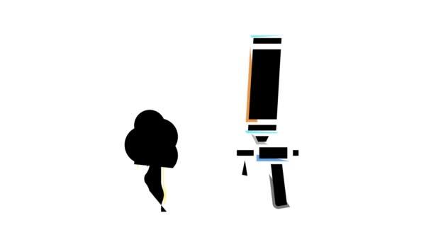 pěnové pistole zařízení barva ikona animace