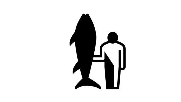 Animation zu Thunfischgröße und Fischerlinie