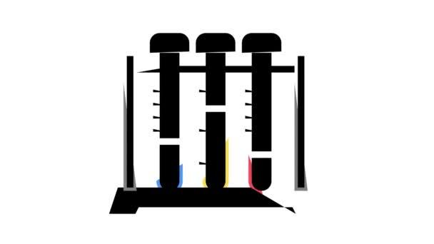 teszt cső állvány szín ikon animáció