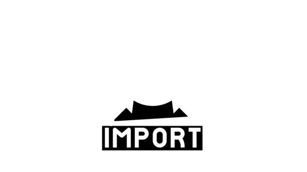importovat animaci ikon transportu glyfu