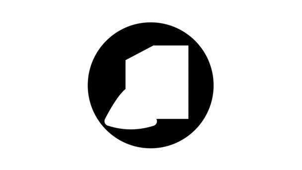 snack áruház glyph ikon animáció