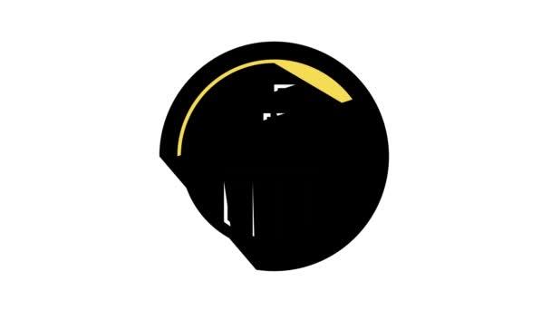kormányzati szolgáltatás jel színes ikon animáció