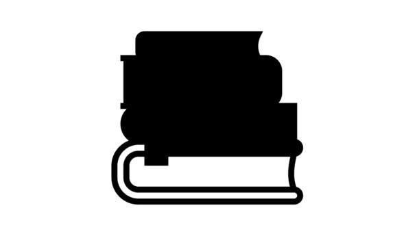 čtení knihy geek řádek animace ikon