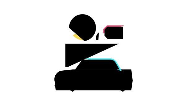 autókölcsönzés színe ikon animáció