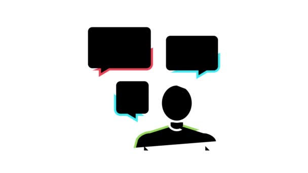 discussion questions and answers color icon animation
