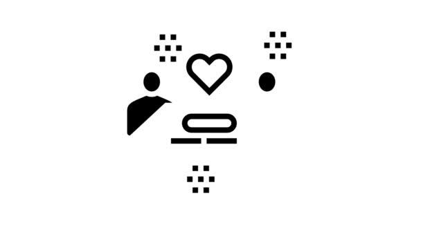 animace ikon lidského držení dokladu nebo kontrolního řádku výhry