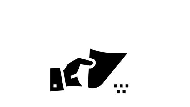Blumen Blumenstrauß Geschenk Glyphen-Symbol Animation