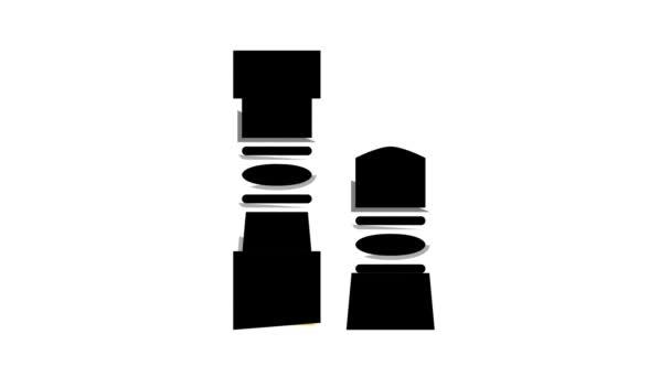 Kugeln für pneumatische Waffen Farb-Icon-Animation