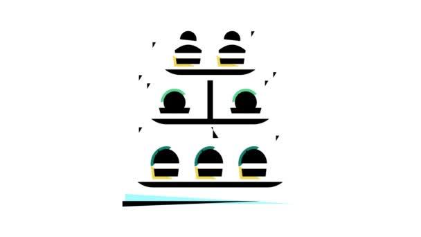 dezerty na animaci ikon barev v zásobníku