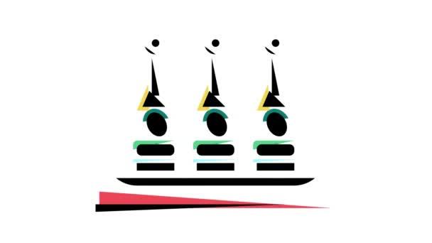 animace ikon barev občerstvení