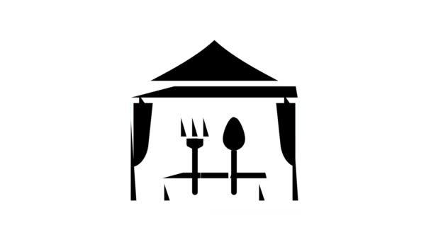 venkovní catering - animace barev bufetu